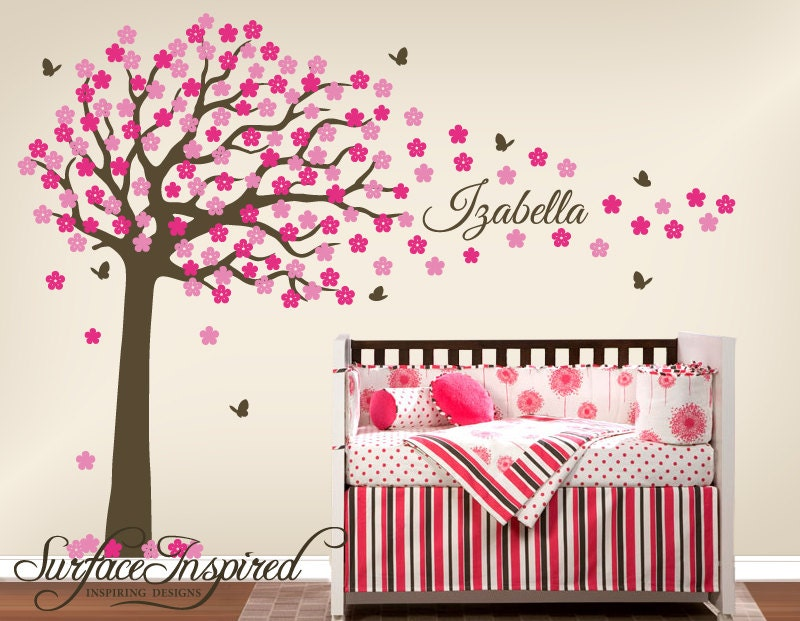 nursery wall decals large cherry blossom tree by