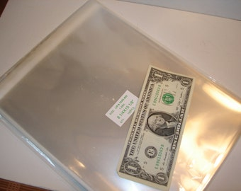 100 Lip and Tape Self Sealing Bags - 8 x 10 inches - Crystal Clear - Re-Sealing