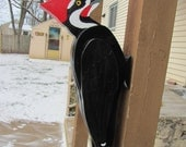 Handmade custom woodworking 3D Giant Pileated Woodpecker