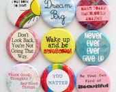 Magnets - Positive Messages - Set of Nine 1.25 Inch Button Magnets Packaged in a Custom Box