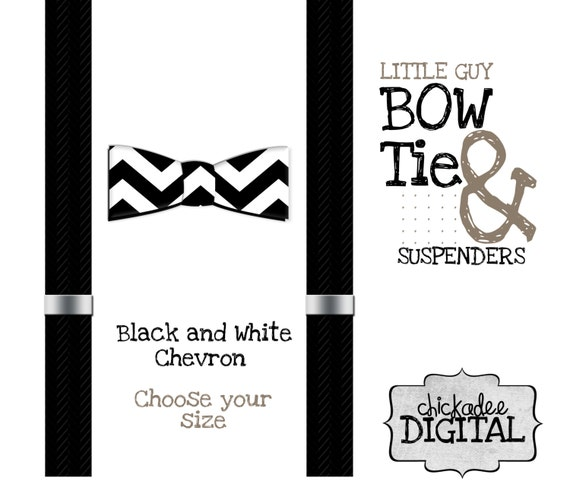 Items Similar To Printable Bowtie And Suspenders Black