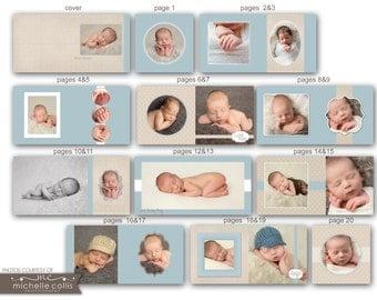10x10 Baby Album template - Mason - 0718 FA