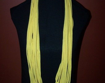 Upcycled Yellow T-Shirt Scarf