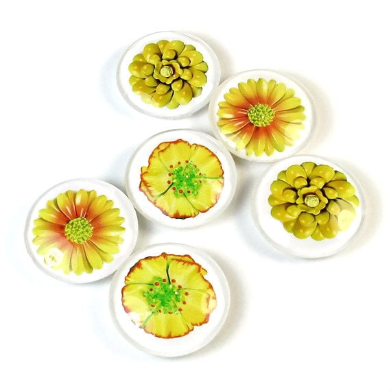 Yellow Flower Magnets