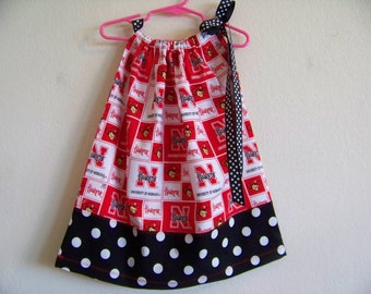 Go Huskers Pillowcase Dress available in sizes 0-3 mons,3-6 mons,6-9 mons,12 mons,18 mons,2T ,3T and 4T