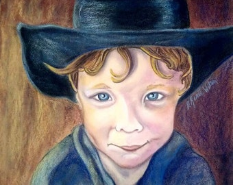 Custom Pastel Portrait Personalized Painting Art from photo Child Portraits Family Wedding Portraits Personalized Gift for Mom