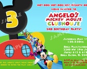 PRINTABLE Mickey Mouse Clubhouse Birthday Invitation -  4x6 or 5x7 Digital File