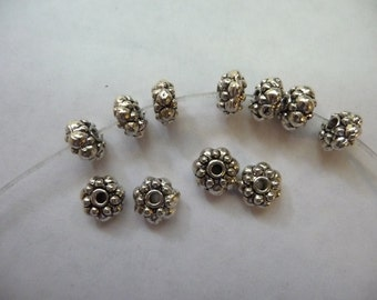 SALE!! Beads, Silver Plated, Pewter, Rondelle, 9x4mm, Pack Of 20 beads. SALE!!