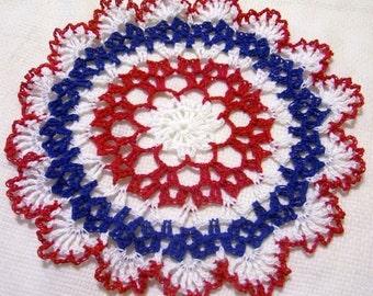 patriotic crocheted doily original design