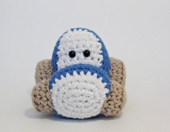 Amigurumi toy tractor crochet pattern pdf tutorial in US English from ByMarik...