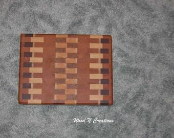 Cutting Board - Cheese Board - Sandwich Board with End Grain Hardwood Style