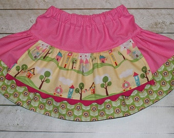 Happy Ever After - Apron Twirly Skirt - 12 24 2t 3t 4t 5t 6