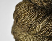 Dried brown algae - Tussah Silk Lace Yarn
