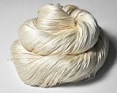 Ghost - natural Silk Fingering Yarn - knotty skein