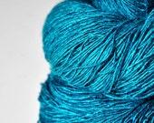 Ex-Peacock - Tussah Silk Fingering  Yarn