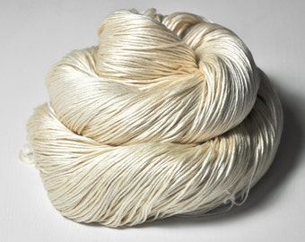 Ghost - natural Silk Fingering Yarn