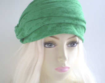 RESERVED Green Skinny Scarf, Green Head Scarf, St. Patrick's Day Scarf, Green Headwrap, Emerald Green Scarf