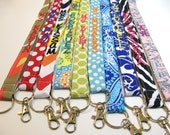 Design Your Own - Personalized Lanyard ID Badge Holder - Monogrammed - Key Strap