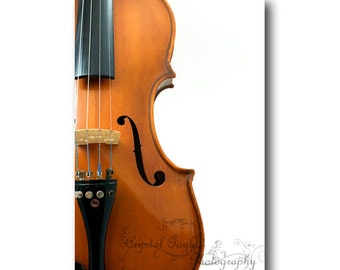 Violin Photography, Fiddle Home Decor, Musical Man Cave Wall Print, 8x10, 8x12, 11x14, 12x18 Inch Unframed Art, Music Gift For Artists