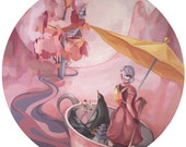 Entering the Kingdom V1 - Original painting on round panel
