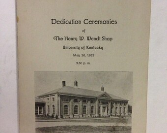 1927 University of Kentucky Program