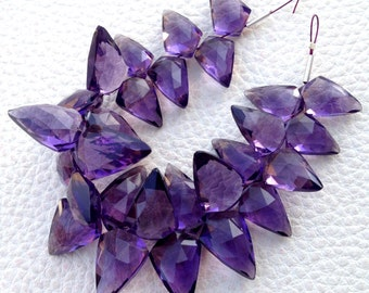 Brand New, 100 Cts, PURPLE AMETHYST QUARTZ Faceted Fancy Briolettes,12-17mm Long,Superb Item at Low Price