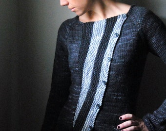 VERTEX Knitting Pattern PDF Cardigan