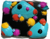Cape Cod Sea Shell Pop Art Wall Art Cats Claw Shell Quahog clam Shell Folk Art Bright Colors Sea Shell Art