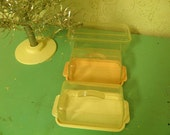 Vintage Plastic Covered Butter Dish - Storage Containers