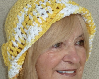 Bohemian Accessories Yellow White Hat