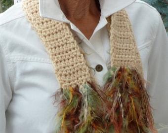 Women's winter crochet scarves bohemian accessories women's fashion