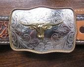 Montana Silversmiths, Wells Fargo, Agate Cowboy Belt Buckles - victoriansentiments