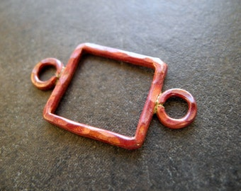 Copper Link Connector Rustic Rectangle 35mm 20mm