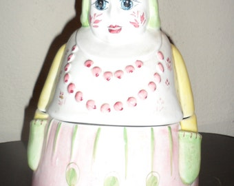 vintage cookie jar ogg made in italy  number  2249  sweet looking