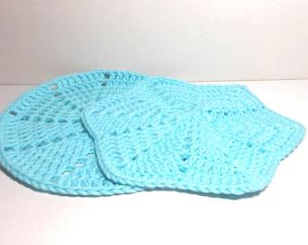 Crocheted Washcloth Dishcloth  Set of Two