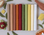 Wool Felt // Feast // Thanksgiving Palette, Fall Colors, Felt Sheets, Autumn Assortment, Garland Felt, Merino Felt, DIY Craft, Holiday Craft