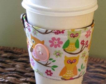Owls Sleeve Coffee Cup Cozy