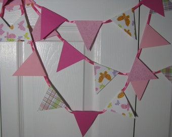 Bright Pink and Butterflies  8 Foot Banner
