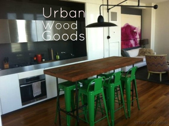 Items Similar To High Bar Table Made Of Reclaimed Wood We Create Them In Aln