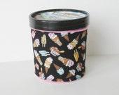 Ice Cream Cozy - Black Ice Cream Cones