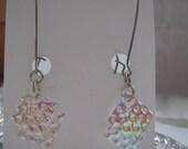 Dichroic Fused Glass Earrings, Dichroic Earrings, Glass Earrings, Dichroic Glass, Earrings 01141