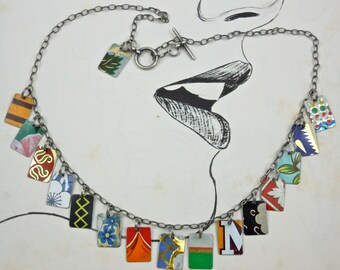 Recycled tin, upcycled tin, vintage tin, tin can, vintage metal, necklace, vintage can, recycled metal, tin can necklace, metal can