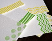 Letterpress Gift Tags - Dots and Stripes set of 6
