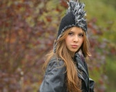 Steampunk Hat with mohawk black Hat iroces Mohawk cloche