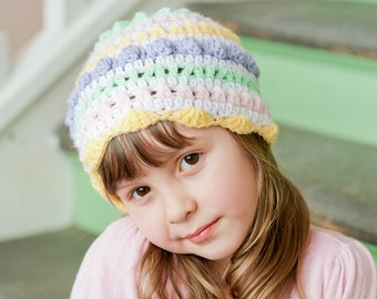 Easter Egg Sampler Hat Pattern - Instant Download Crochet Pattern