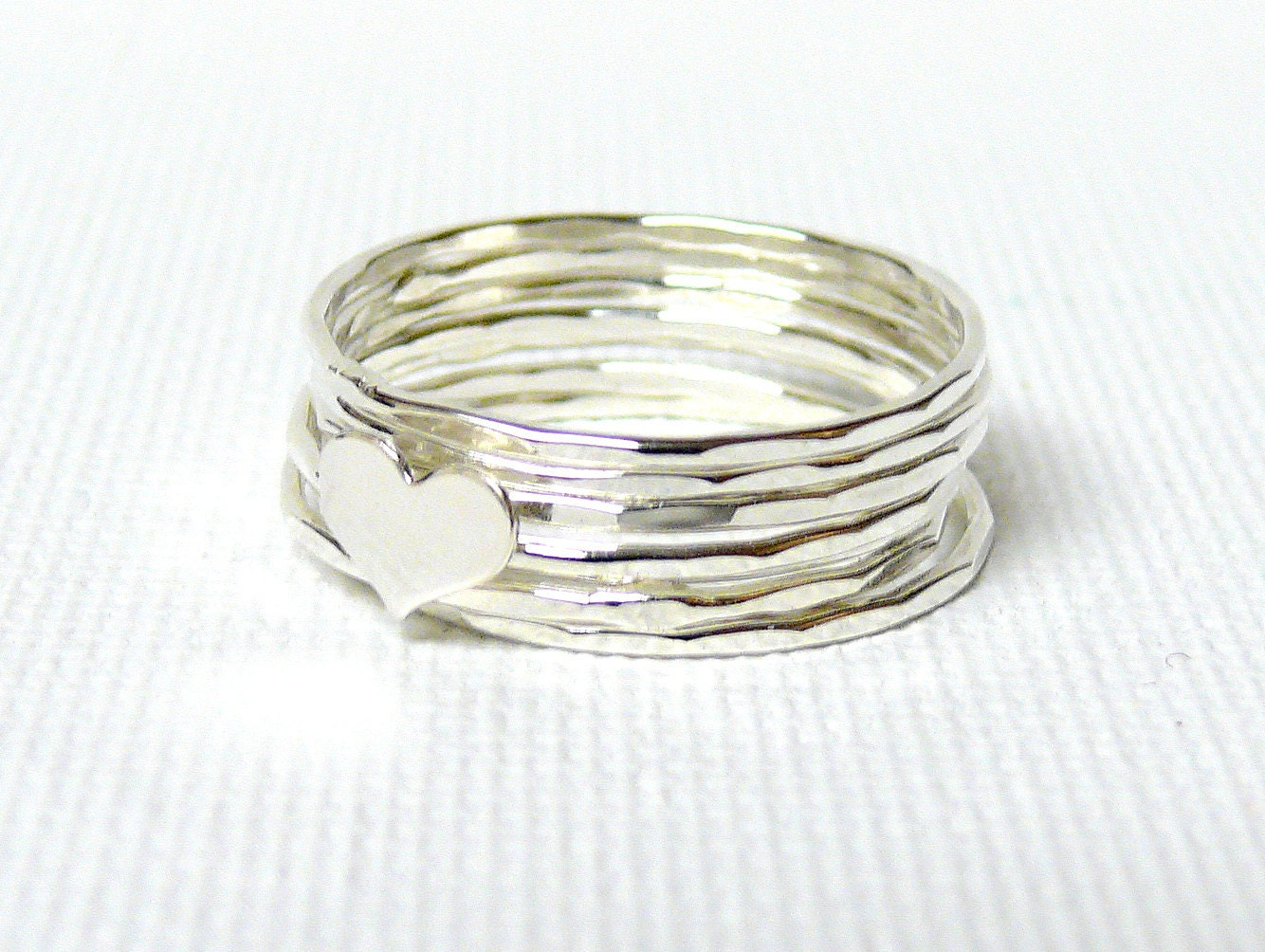 silver ring sterling silver stacking rings ring