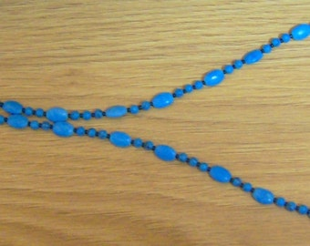 Long Necklace in Turquoise Blue ... over 25 inches long