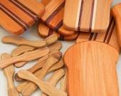 wood cutting board slice of bread board