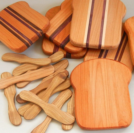 Items similar to wood cutting board slice of bread board for How to cut wood slices