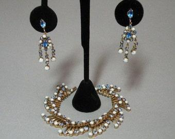 Vintage Hattie Carnegie Bracelet & Earring Set